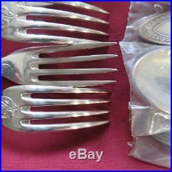 ERCUIS ménagères 37 couverts en métal argenté modèle empire