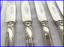 Écrin 12 Couteaux Métal Argenté Poinçonné CHRISTOFLE Modèle CHRYSANTHEME Couvert
