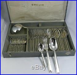 Ercuis ménagère 37 pièces, modèle petite coquille Art déco, excellent état