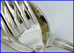 Ercuis modèle Trianon/Rubans 12 couverts entremets/dessert, 24 p. Excellent état