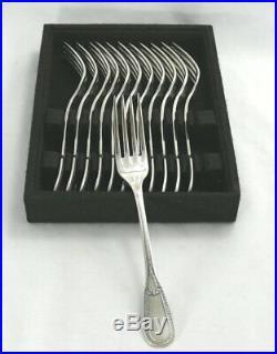 François Frionnet modèle Empire 12 fourchettes entremets/dessert excellent état