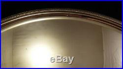 Grand plateau en métal argenté Christofle modèle Malmaison 63 x 42 cm