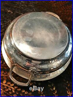 Henin / Legumier Modele Perle Metal Argente /argenterie Ancienne