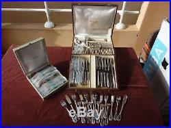 Importante ménagère en boite christofle modèle perle, blisters, 104 pces, TBE