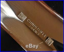 Joli plateau en métal argenté Christofle France modèle Malmaison