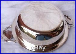 Légumier en métal argenté modèle godrons&coquille Féllx Frères