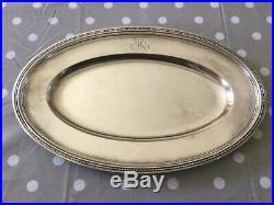 Lot de 4 Plats Ch. Christofle Modèle Perles Métal argenté Monogramme