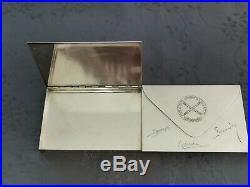Maria Pergay Tres Grande Boite Metal Argente Rare Modele Marechal De Lattre