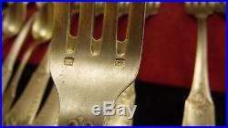 Ménagère 37 pièces en métal argenté SFAM modèle Empire Sans Gêne