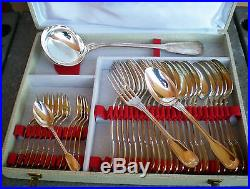 Ménagère 73 pièces modèle filet en métal argenté SFAM