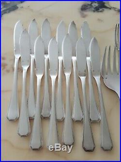 Ménagère A Poisson CHRISTOFLE Modèle America 25 pieces Métal Argenté old silver