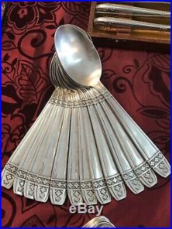Menagere Art Deco Modele Grand Prix Monaco / / Metal Argente 49 Pieces