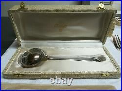 Ménagère CHRISTOFLE modèle DAX en métal argenté 76 pièces avec écrins