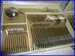 Ménagère CHRISTOFLE modèle MARLY Métal argenté Fourchette Cuillère Couteau 60p