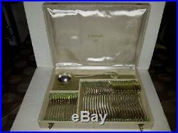 Ménagère Christofle -Alfénide 37 pièces en métal argenté modèle Vendôme
