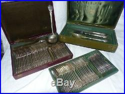 Ménagère Christofle modèle régence 19ème métal argenté 78 pièces