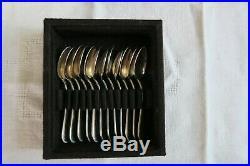 Ménagère Dessert Metal Argenté Style Cristophle Modele Perles 48 Couverts