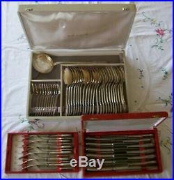 Ménagère Ercuis en métal argenté modèle Perles 61 pièces