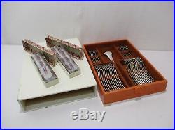Menagere Ravinet D' Enfert Design Modele Espace 1971 Metal Argente 49 Pieces
