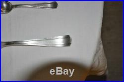Ménagère art déco en métal argenté modèle Betty de chez l'orfèvre Boulenger