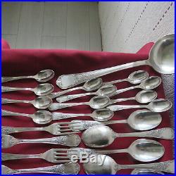 Ménagère de 37 couverts en métal argenté Francois Frionnet modèle louis XV marly