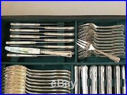 Ménagère en métal argenté 157 pièces RAVINET D'ENFERT modèle dauphin ref 829