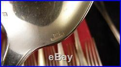 Ménagère en métal argenté 25 pièces Christofle modèle Boreal