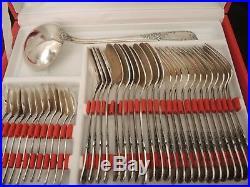 Ménagère métal argenté 74 pièces modèle Louis XV- Francois Frionnet Marly