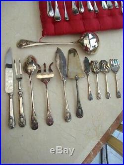 Ménagère métal argenté comme neuve 143 pièces modèle médaillon louis xvi