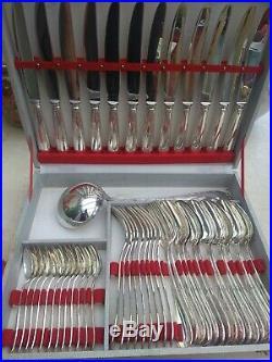 Menagere metal argenté st Médard modèle ruban nud 49 pièces dlg christofle