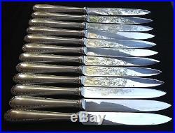 Ménagère modèle Perles en métal argenté 62 pièces Orfèvrerie Boulenger