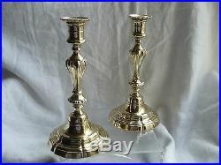 Paire De Bougeoirs En Bronze Modele A Cotes 18 Eme Siecle Bon Etat N° 3