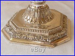 Paire de candélabres chandelier Christofle en métal argenté modèle Dupérier n742