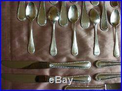 Partie de ménagère en métal argenté modèle Perles 26 pièces, à compléter