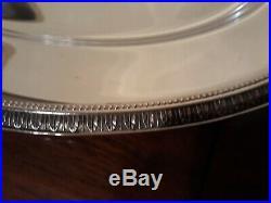 Plat oval christofle métal argenté modèle malmaison long. 39.8 cm