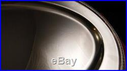 Plat ovale en métal argenté Chritofle modèle Malmaison