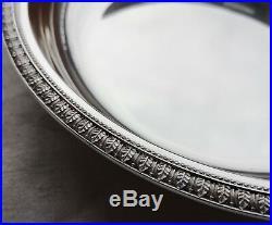 Plat rond creux à légumes en métal argenté Christofle modèle Malmaison