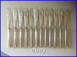 RARE 12 Fourchettes à Melon CHRISTOFLE Modèle FILET Métal Argenté Couvert 21,5cm