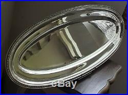 Rare Plat A Poisson En Metal Argente Christofle Modele Malmaison N°1