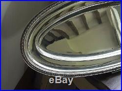 Rare Plat A Poisson En Metal Argente Christofle Modele Malmaison N°2