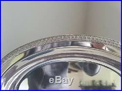 Rare Plat Ovale En Metal Argente Christofle Modele Malmaison