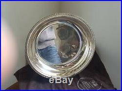 Rare Plat Rond En Metal Argente Christofle Modele Malmaison N°1