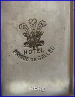 Rare Porte allumettes, modèle Perles Métal Argent Christofle France 1900