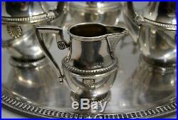 SERVICE à thé café orfèvrerie CHRISTOFLE 6 pièces modèle COQUILLE st. Louis XVI