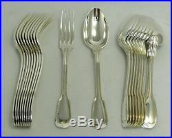 SFAM 10 couverts entremets modèle Filet, 20 pièces, métal argenté excellent état