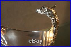 Saucière à prise d'aigle Empire métal argenté signé Christofle modèle Malmaison