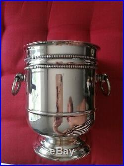 Seau à glace Christofle métal argenté modèle Perles
