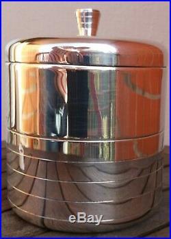 Seau à glace isotherme en métal argenté Christofle France modèle art déco