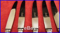Service 10 couteaux entremet métal argenté Christofle modèle Vendome Coquille