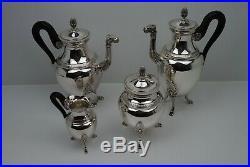 Service à Café/Thé en métal argenté CHRISTOFLE modèle Empire